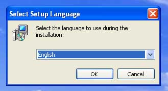 Language selection dialog