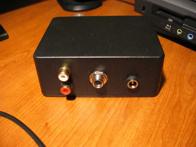 Amplifier rear side