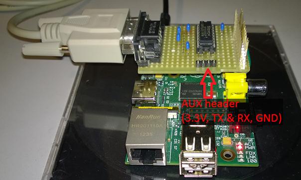 Serial circuit AUX header detail